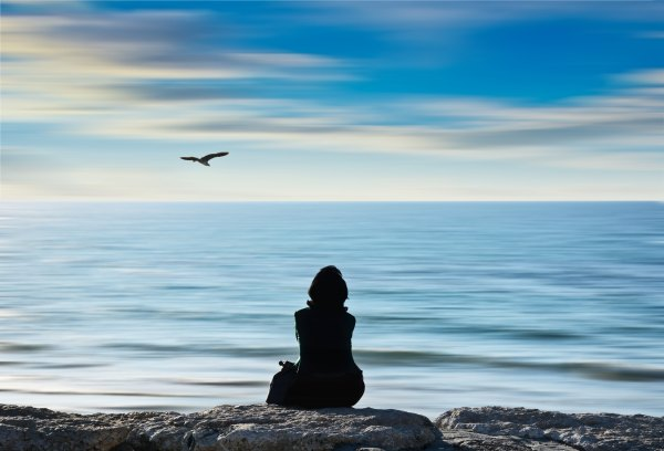 meditation-with-seagull